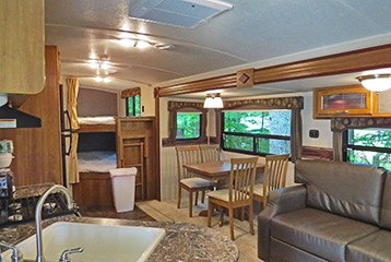 Rental Trailer Living Area