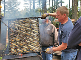 Chicken BBQ at Crown Point Camping Area