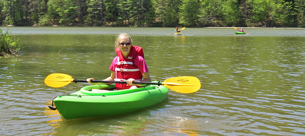 Kayaking at Crown Point Camping Area